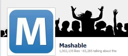 Over 1 million followers - Mashable.com