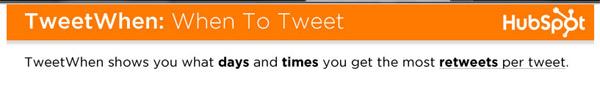 Tweet When