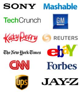 Major brands use WordPress