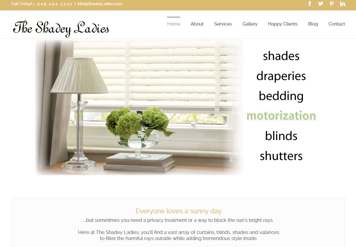 Website Design: The Shadey Ladies