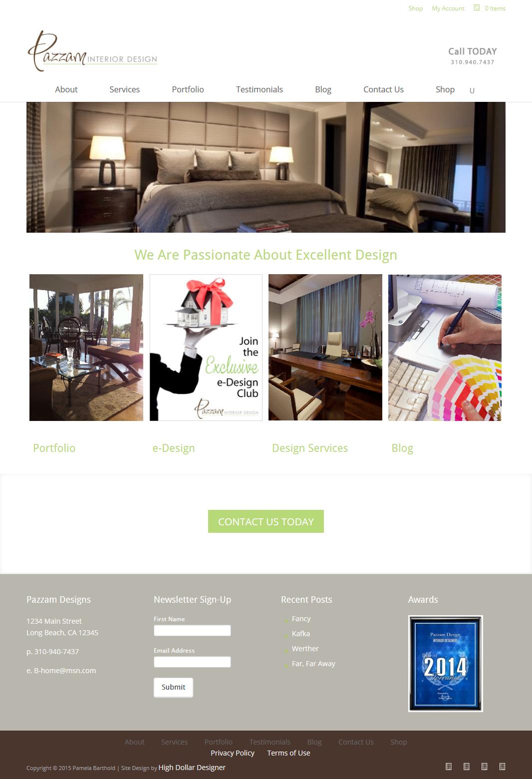 Website Design: Pazzam Designs